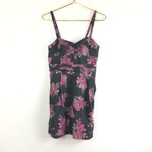 Aritzia Wilfred  Black floral Dress 6